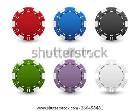 Set of casino chips - stock vector