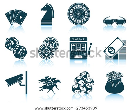 Set of casino icons. - stock vector