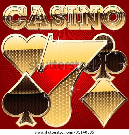 set of casino's items - stock vector