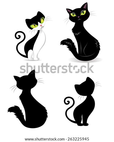 Set of cats. - stock vector
