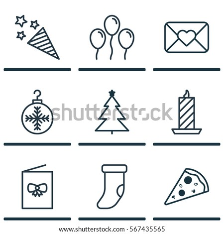 Celebration Icons Stock Images RoyaltyFree Images  Vectors