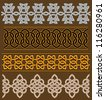 Set of celtic ornaments and patterns for ethnic design. Jpeg version also available in gallery - stock vector