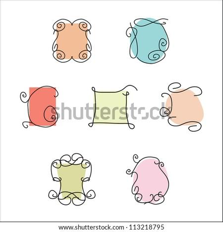 set of children's frames - stock vector