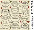 Set of Christmas design elements - stock vector