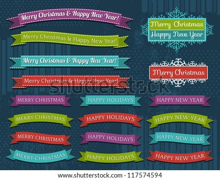 set of Christmas design, vector