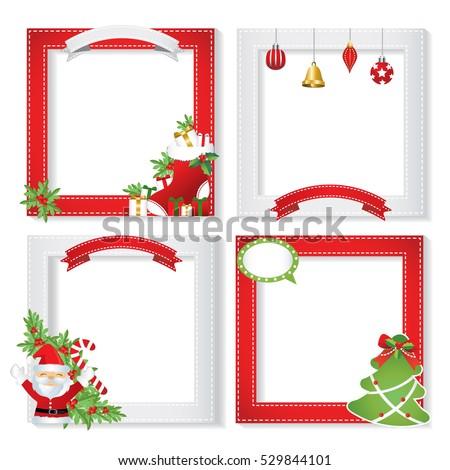 set of christmas framesvector christmas border christmas frame picture christmas card design