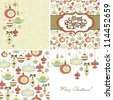 Set of Christmas Retro backgrounds - stock photo