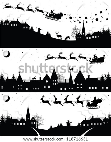 Christmas Silhouette Stock Images, Royalty-Free Images & Vectors ...