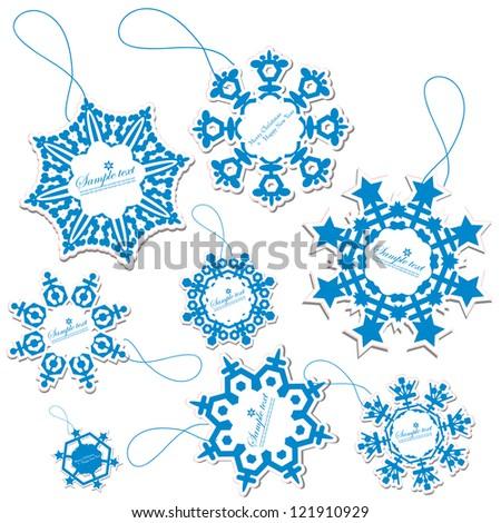 Set of Christmas Tags - stock vector