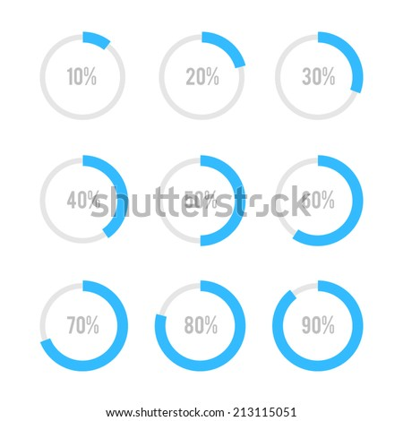 Set of circle diagrams for infographics - stock vector