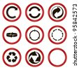 set of circled arrows. vector icons - stock vector