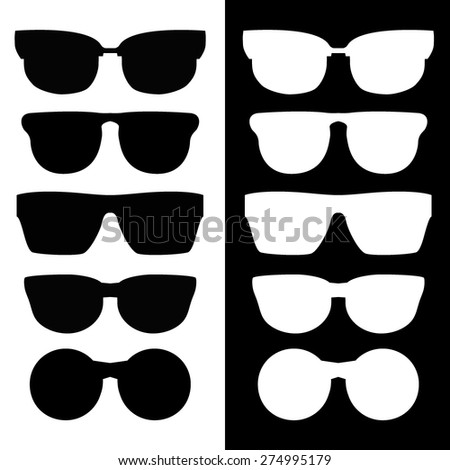 Set of classic vector glasses
