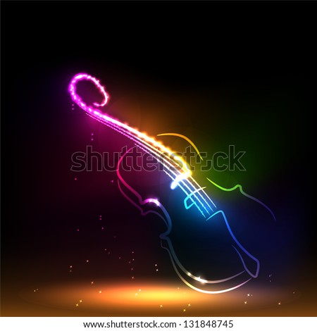 Set of classical musical violins instruments in silhouette style, such as emblem. - stock vector