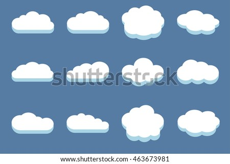 Set of clouds in the blue sky