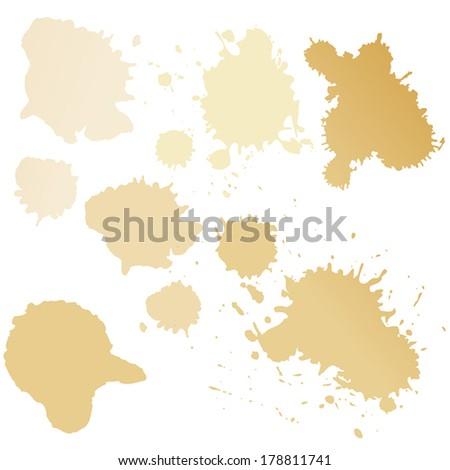 Set of coffee splash. Vector illustration. - stock vector