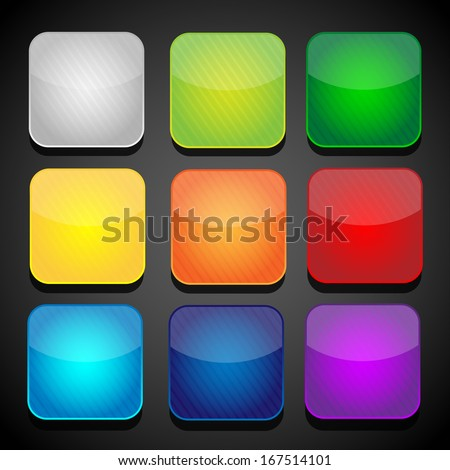 Set of color apps icons - background - stock vector
