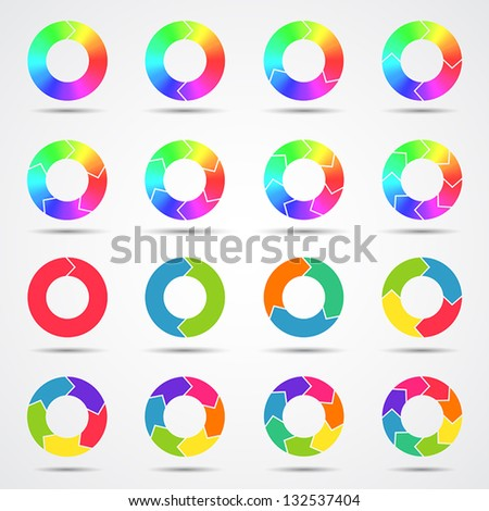 Set of color circle arrows (big collection)