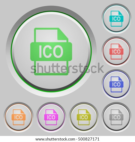 ico file format flat color icons stock vector 542042449 shutterstock. Black Bedroom Furniture Sets. Home Design Ideas