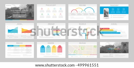 Set of color infographic elements for presentation templates. Leaflet, Annual report, book cover design. Brochure, layout, Flyer template design. Easy to edit.