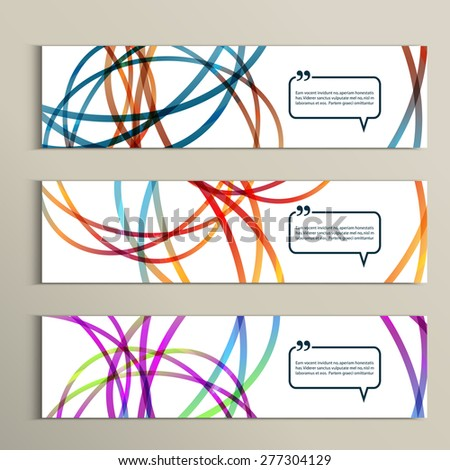 Set of color line banners for abstract design. - stock vector