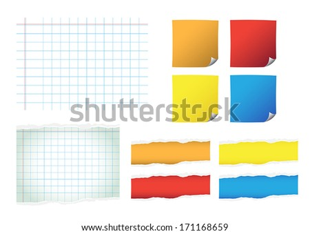 Set of color paper vector - stock vector