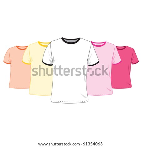 Baby pink sport top tshirt isolated stock vector 518977105 for Pink t shirt template