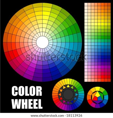 Set of Color wheels. - stock vector
