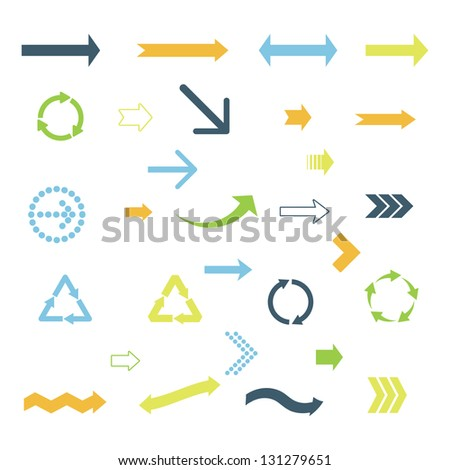set of colored arrows. eps8 - stock vector
