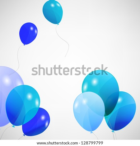 set of colored balloons, vector illustration. EPS 10 - stock vector