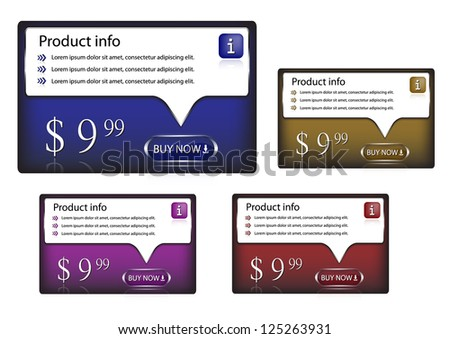 Set of colored banners-vector - stock vector