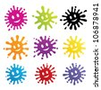 Set of colored  blots on the white background. Vector Illustration. - stock photo