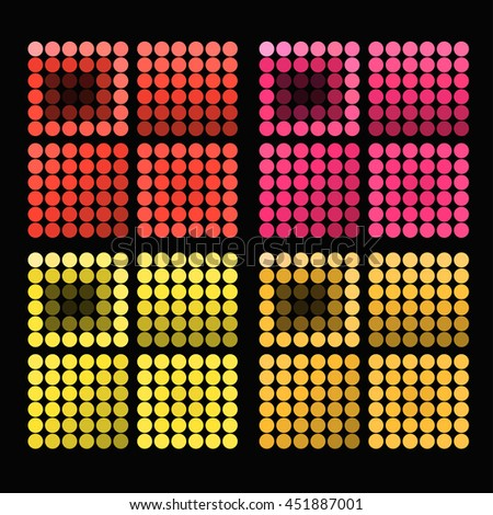 set of colored circles with bright warm colors vector illustration