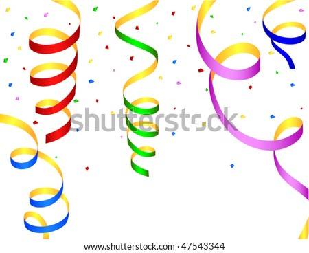 set of colored streamers - stock vector