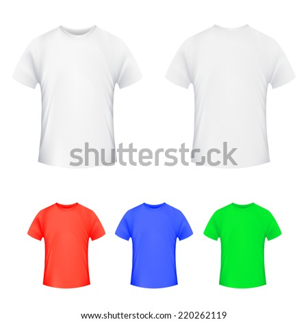 set of colored T-shirts