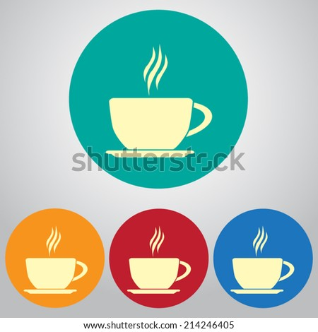 set of colored vector icons - stock vector