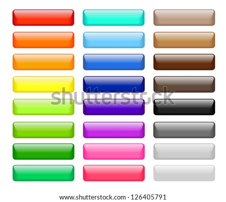 Set of colored web buttons - stock vector