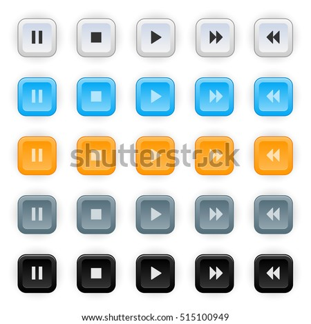 Set of colored web buttons. Web elements vector button set.