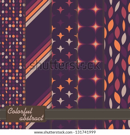 set of colorful abstract pattern