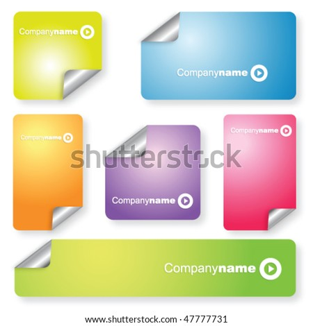 Set of colorful backgrounds - stock vector