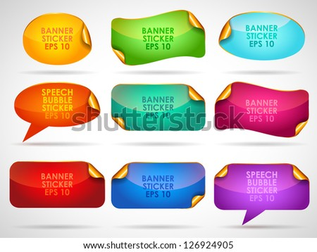 Set of colorful banners - vector illustration for your business presentations and advertising. - stock vector