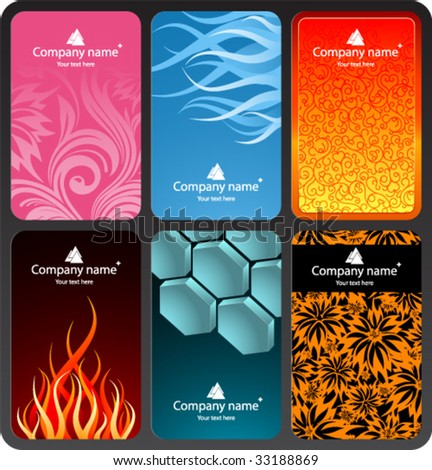 Set of colorful business cards (set 2)
