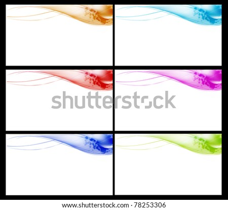 Set of colorful  business cards Vector - stock vector