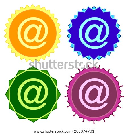 Set of colorful button.Vector illustration - stock vector