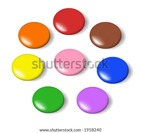 Set of colorful candies. Vector illustration with accurate gradient mesh.