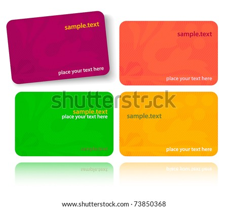 Set of colorful cards - stock vector