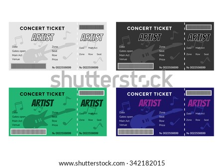 Concert Ticket Images RoyaltyFree Images Vectors – Concert Tickets Design