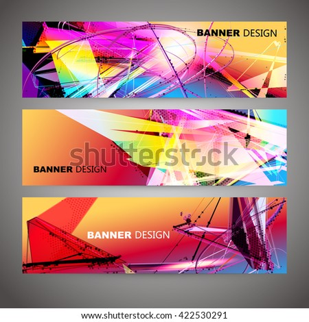 Set of Colorful Flyer, Brochure Design Templates. - stock vector