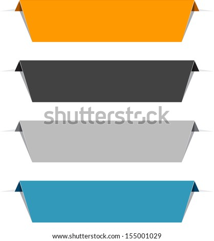 Set of colorful paper labels. Vector eps10.  - stock vector
