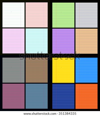 Set of colorful paper sheets. Vector illustration. - stock vector