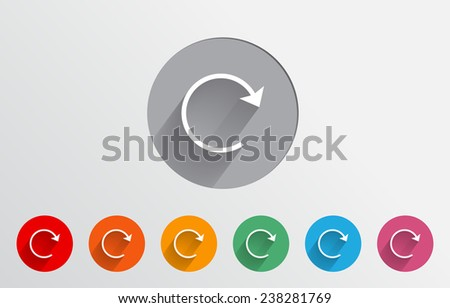 Set of colorful reload icons - stock vector